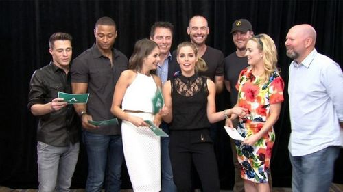 3 of Vicky's hotties with the cast of Arrow<3