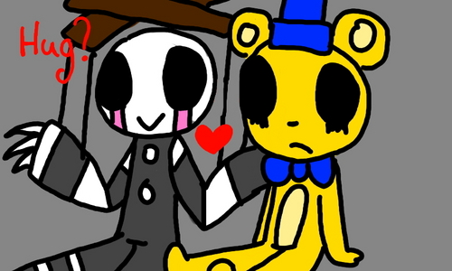 Goldie (nickname of Golden Freddy) and Marionette..Cause,i can't keep them all...If i have a lot of them,how would i keep them all?