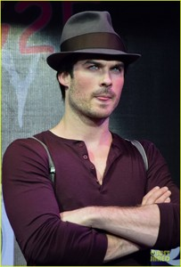 Ian Somerhalder wearing a hat<3
