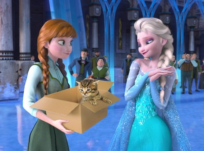 When ELSA was borned,her mother exidentally gave elsa potion...the potion is her fathers experiments...instead of warm milk.
