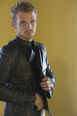 Cam in a leather jacket<3