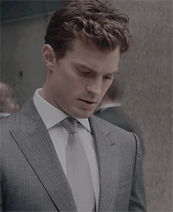 Jamie looking fifty shades of hot in a grey tie<3