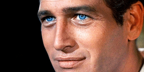 Paul Newman's stunning blue eyes<3