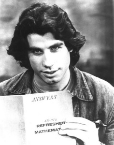 "John holding a script of his 76' mostrar ""Welcome Back, Kotter"" :)"