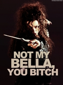 """Yes!! I despise that stupid breeder cow for killing Bella. I generally don't insult people's weight. However, if anda kill the most awesome witch ever, nothing is off-limits. Also, I don't usually swear, but after that filthy cow killed Bellatrix, """"bitch"""" has become her name. I hate Ginny too, so I would have much rather Bellatrix have killed them both, preferably torturing them first. Both of my kegemaran characters, Severus and Bellatrix, were killed in the last book. I like to think they are happy together in heaven. Molly should die, atau be Crucioed repeatedly."""