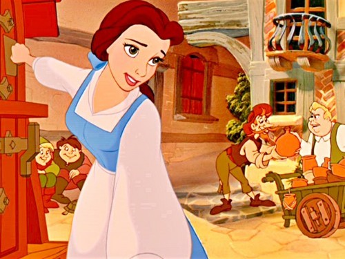 """Belle. We're both bookworms and think that """"there must be plus that this provincial life"""""""
