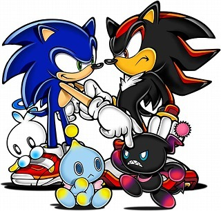 Sonic, but plus specifically Shadow. Hence: SHADOWfan100.