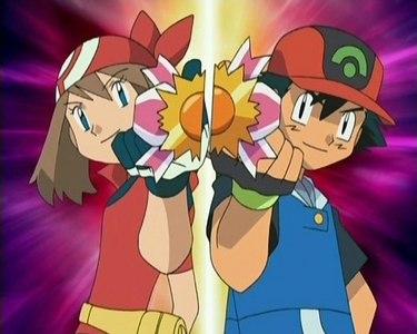 Ash & May from Pokemon