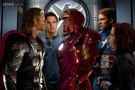 Chris and his mighty Avengers<3
