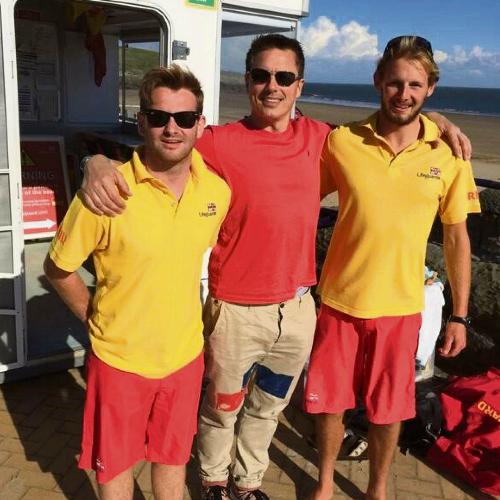 John and lifeguards.