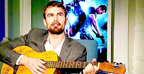 my গিটার playing British babe,Theo<3