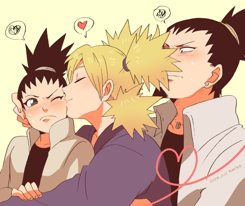 For the most part yeah. I 愛 NARUTO -ナルト- and Hinata together. I can get on bored with Ino/Sai. But above all I 愛 ShikaTema. <3 The only one I don't like is Sasuke/Sakura. (art found on google; seemingly によって Ayame Ikaruga)