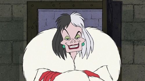 The Disney Villains, especially Cruella De Vil, as toi can tell with my name.