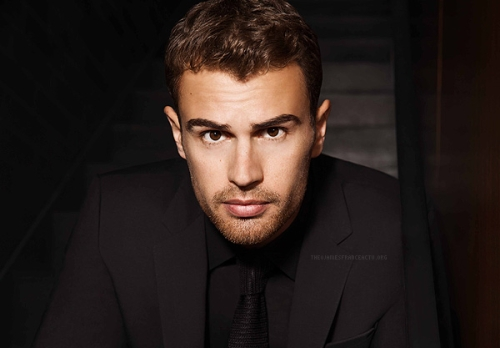 Theo James,who plays Tobias(Four)Eaton in the Divergent movies<3
