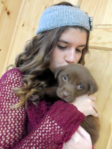 me and a puppy:)