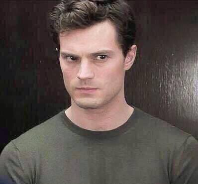 my delicious Mr.Dornan looking to the side<3