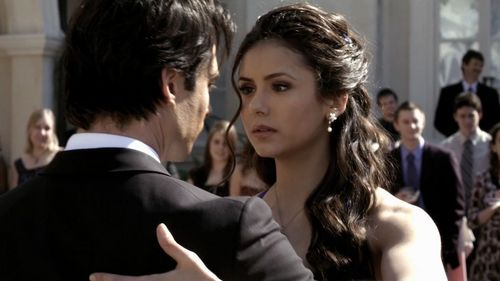I just feel like this is one of the most iconic delena moments...Dancing symbolises their love: They danced the first time they had sex and they danced when they were saying goodbye to elena forever. This is the first time they danced so I feel it's very iconic.