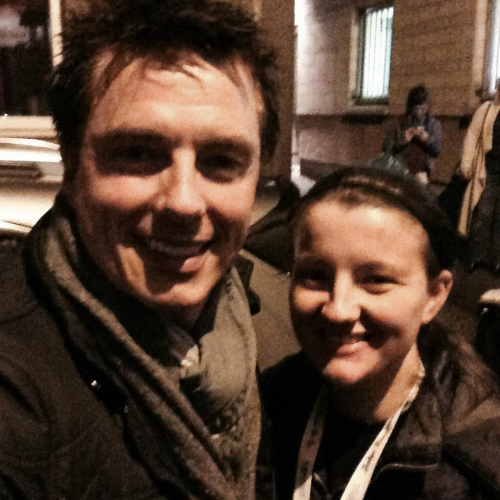 Me and John after his konser in Edinburgh on 02/06/2015 <3