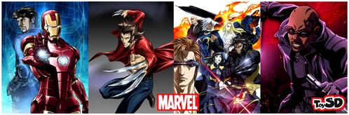 Here's four Marvel Anime: Iron Man, Wolverine, X-Men and Blade.