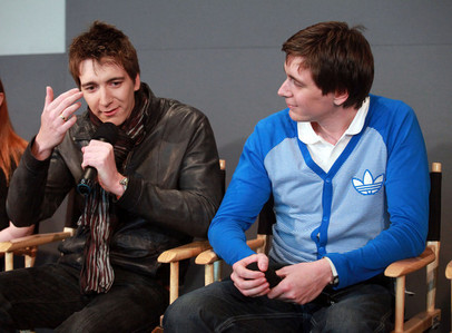 the twins James and Oliver Phelps