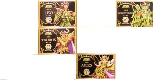 I have four of favorito Gold Saints:Sagittarius Aioros,Leo Aiolia,Aries Mu and Taurus Aldebaran. :D