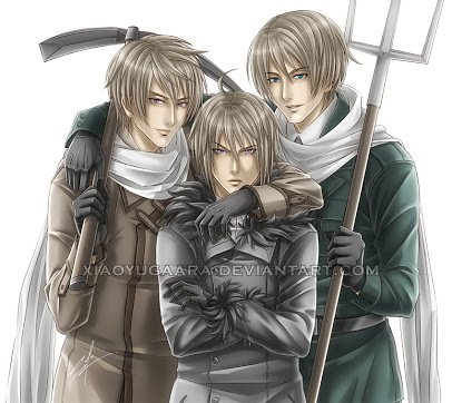 I pag-ibig Ivan (very left), but both Male!ukraine are Male!Belarus also my favourite