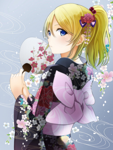 """Errr.... Eri Ayase(pic) and Arisa Ayase [Love Live School Idol Project]--quarter Russian,if i remembered right. Meiko """"Menma"""" Honma [AnoHana]--part Russian Also Kudryavka Noumi [Little Busters]--three-quarters Russian,haven't really met characters who are purely Russian yet."""
