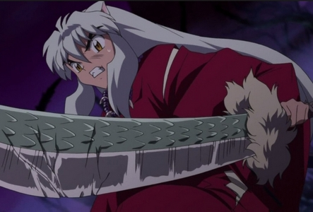 InuYasha from the series InuYasha with his sword Tessaiga!