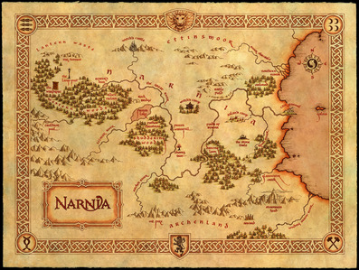 Either Equestria of Narnia. Map of Narnia, 'cause Narnia is cooler. But I'd still like to go to Equestria, nonetheless. :P