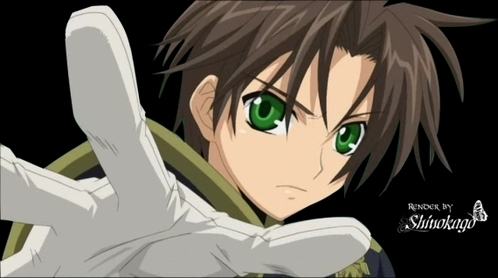 Travel Options anime boy with brown hair and green eyes
