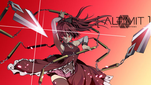 Kyoko Sakura with her awesome lance <3 It can actually divide into six segments and work as a nun-chuck too~