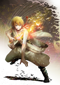 Alibaba from Magi and his little sword