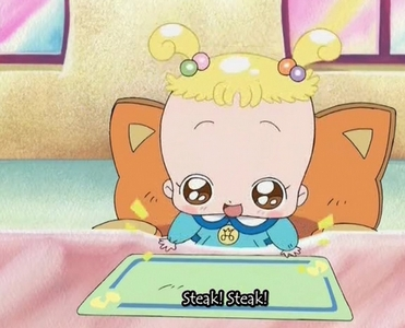 Alrighty! This is Hana as a baby in Ojamajo Doremi!