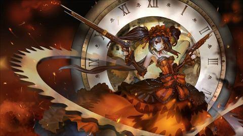 Kurumi Tokisaki from tarikh A Live and her weapon (Astral Dress ?) Zaphkiel!