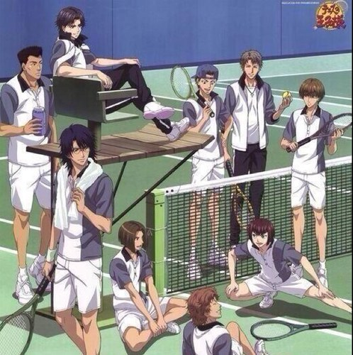 Prince of Tennis. I want to play tenis and joins them in the National Tournament, especially with one of the main schools, Hyoutei Gakuen, my paborito school! <3