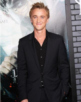 Draco Malfoy,aka Tom Felton in black<3