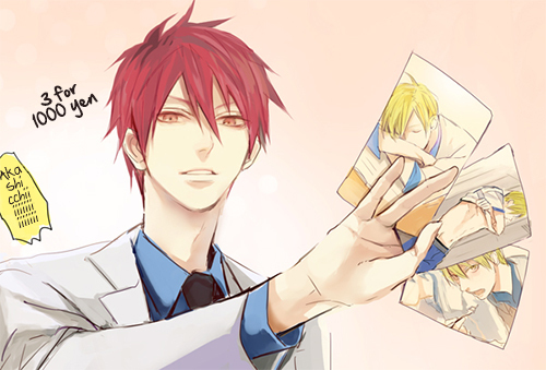 Normally at this time I would be saying Misogi Kumagawa atau Hibari Kyoya, but for a change of pace and my current obsessing......... Akashi from Kuroko no Basket *laughs too much at this*