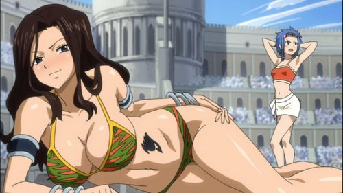 LOL @Levy in the background. I'd rather have her than Cana, though. XD