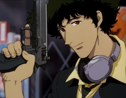 I'd say Spike from 'Cowboy Bebop' He is the smoothest Anime character out there.