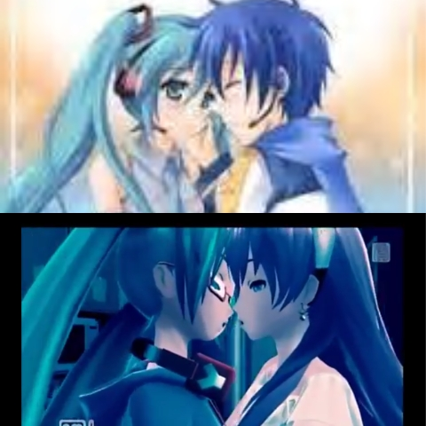 Considering that my kegemaran Anime character is a girl,it would be really weird to see my Anime crush Ciuman a girl. That would be like Lesbien. anda should of berkata what would anda do if your saw your Anime crushes missing a boy atau a girl. That would of made better since for this question. See the picture of Hatsune Miku and Margarine Luka Ciuman each other,that's so wrong. The video showed Hatsune Miku Ciuman the boy Vocaloid named Kaito. But since in Hatsune Miku project diva F and F 2nd video games anda can changed clothes and characters for the sing and genders for each Vocaloid song. Simone onw YouTube made a Hatsune Miku Project diva F 2nd video game Muzik video into a Yuri video. It showed Hatsune Miku and Margarine Luka Ciuman instead if the original video where Hatsune Miku and Kaito where kissing. This is so wrong looking. I would rather see Hatsune Miku and Kaito kissing. Not Hatsune Miku and Margarine Luka kissing. I feel yucky about Hatsune Miku and Margarine Luka Kissing. Girl and girl Vocaloid Ciuman is a big flat NO! I would rather see girl Hatsune Miku and boy Kaito Vocaloid kissing. Not girl and girl kissing. Only girl and boy kissing. This is the peminat made Hatsune Miku Project Diva F 2nd video game Muzik video someone on YouTube made. Watch the video Hatsune Miku Muzik video if anda wanna see some peminat made Yuri Vocaloid stuff. --------------> https://m.youtube.com/watch?v=GYXIMCuMhyU