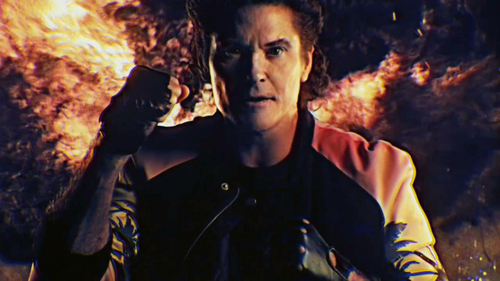 "David Hasselhoff when he did his âm nhạc video for Kung Fury. ""Permit Denied"""
