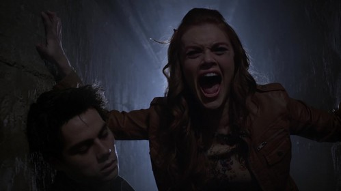 Lydia and Stiles in Teen Wolf, I have not seen that episode yet.