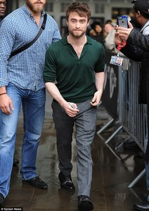 Daniel redcliff wearing green