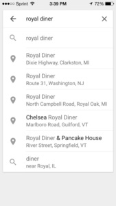 Royal Diner does exist. Idk if it's the same as the one on Bones, but.....