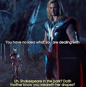 Thor and Ironman speaketh some words<3