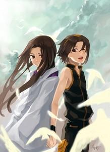 Hao and Yoh Asakura from Shaman King!
