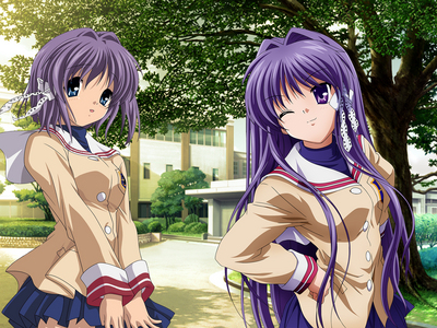 It's been said before I'm gonna post it again because they need a larger picture. x3 Kyou and Ryou (Clannad) are the greatest twins. ^-^