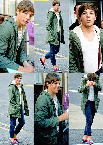 Wearing green jacket!!