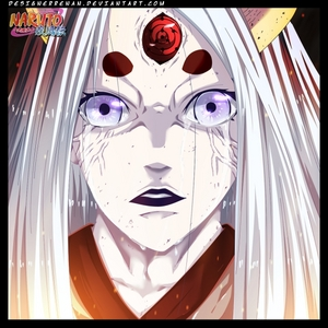 For me,it's her-the one and only Kaguya Otsutsuki.The strongest character in naruto shippuden.She has all the three grest eyes or doujutsu-sharingan ,byakugan and rinnengan.Hope yuo all like it!