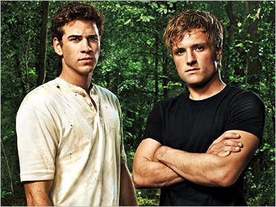 are te girls Hungry for some hotties?Here's 2 babes to wet your appetite ...Liam Hemsworth and Josh Hutcherson<3